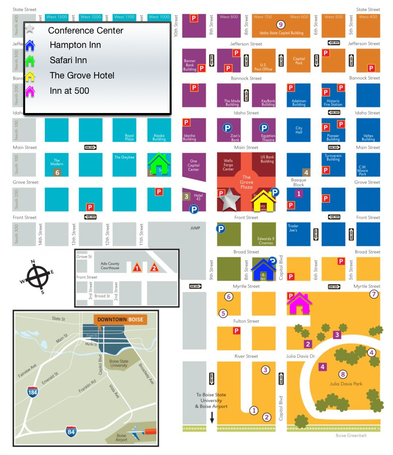 Downtown Boise Map